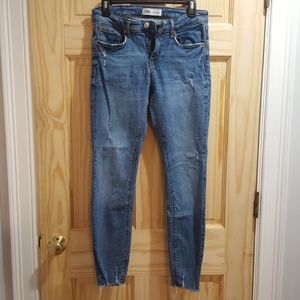 "Zara ""the skinny"" jeans in island blue,  size 6"
